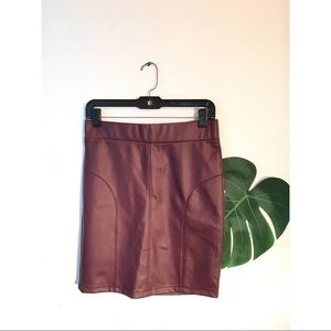 HAVE Wine Red Pencil Skirt